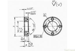 Гайка круглая с отверстиями на торце «под ключ» ГОСТ 6393-73