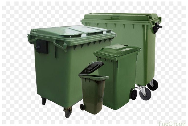 Мусорные контейнеры пластиковые от 120л-1100л