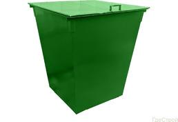 Мусорный контейнер 750л (металлический)