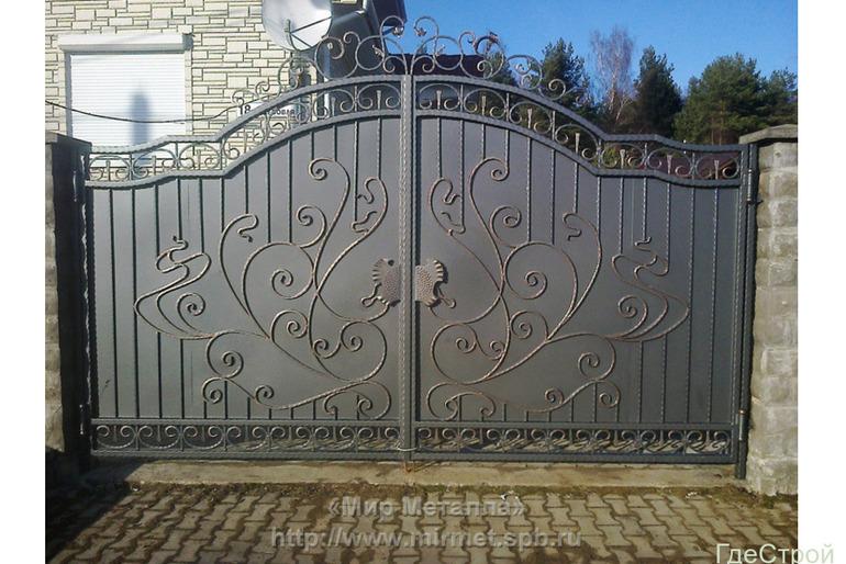 Предлагаем кованые ворота под ключ
